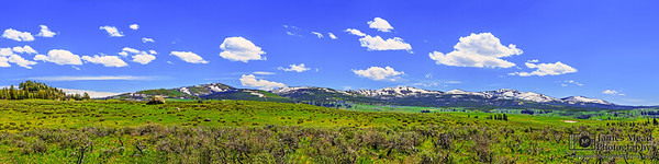 """""""Untainted Frontier,"""" Washburn Range in Spring, Yellowstone National Park"""