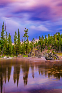 Sunrise over the Firehole River, Yellowstone National Park