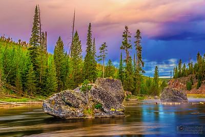 """Bonsai of the Firehole,"" Firehole River at Sunrise, Yellowstone National Park, Wyoming"