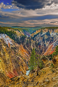 """""""Canary's Canyon,"""" Sunset over the Grand Canyon of the Yellowstone, Yellowstone National Park, Wyoming"""