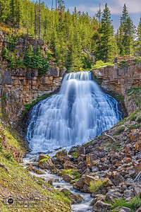 """Weeping Wall,"" Rustic Falls, Yellowstone National Park, Wyoming"
