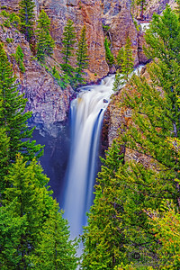 """Over the Ledge,"" Tower Falls, Yellowstone National Park"