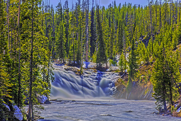"""""""Thunderous Waters,"""" Spring Flow over Lewis Falls, Yellowstone National Park"""