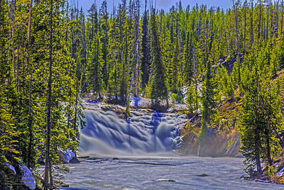 """Thunderous Waters,"" Spring Flow over Lewis Falls, Yellowstone National Park"