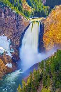 """Graceful Elegance,"" Spring Melt over Lower Yellowstone Falls, Yellowstone National Park"