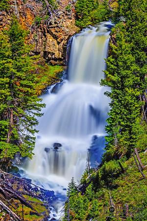 """""""Sapphire Tiers,"""" Undine Falls, Yellowstone National Park, Wyoming"""