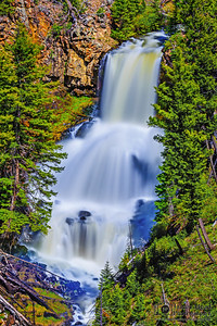 """Sapphire Tiers,"" Undine Falls, Yellowstone National Park, Wyoming"