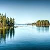 Surreal HDR version of Yellowstone Lake, taken from the Fishing Bridge.