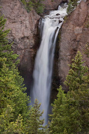 Tower Falls drops 132 feet into Tower Creek which merges into the Yellowstone River.  It was a steep half mile hike to the bottom.  I will save this for my return visit.