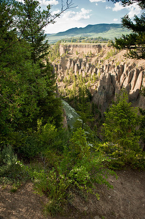 Canyon on the way to Tower Falls.