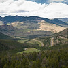 Chief Joseph Scenic By-way overlook.  Note the winding road.