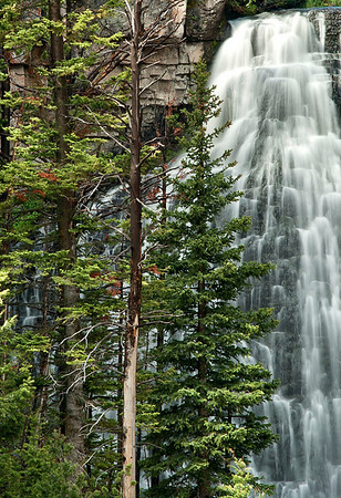 Rustic Falls.  The beauty of the telephoto lens. NIkon 80-200mm f/2.8