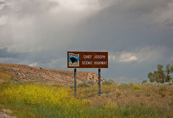 Outside Cody, WY on Chief Joseph Scenic Byway.