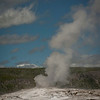 Old Faithful prior to its eruption.