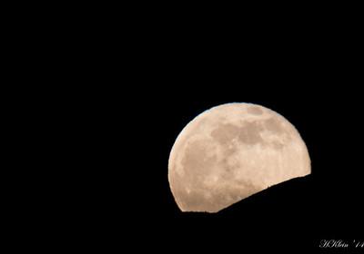 Full moon over Baker City, OR