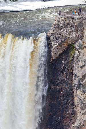The lip of the falls...for those daring enough!