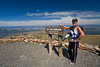 Cindy atop Mt Washburn in Yellowstone National Park - Photo by Pat Bonish