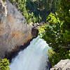 Beautiful waterfalls in Yellowstone National Park.