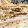 Beautiful rock formations. Mammoth Hot Springs, on a hill of travertine in Yellowstone National Park, USA