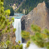 Beautiful waterfall in    Yellowstone National Par.