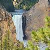 Beautiful waterfall, Yellowstone National Park