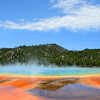 Grand Prismatic Spring in Yellowstone National Park,.