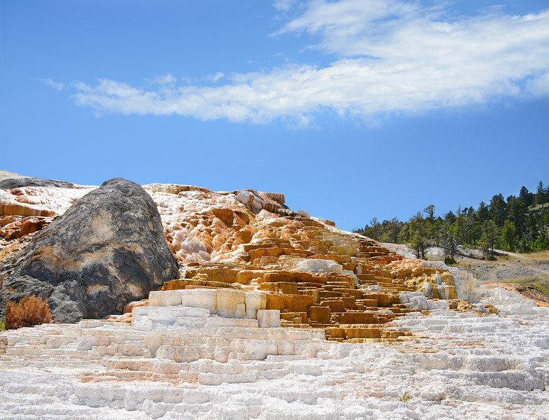 Mammoth Hot Springs  in  Yellowstone National Park. Wyoming,USA.