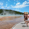 Friends on sightseeing trip in Yellowstone National Park.