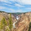 Beautiful waterfalls at Yellowstone National Park.