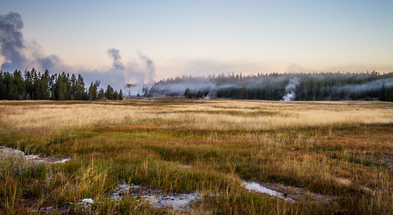 Early morning, Upper Geyser Basin
