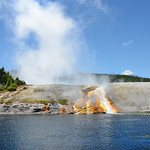 Firehole River in Yellowstone National Park.