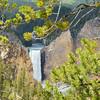 Beautiful  waterfall in  Yellowstone National Park, .