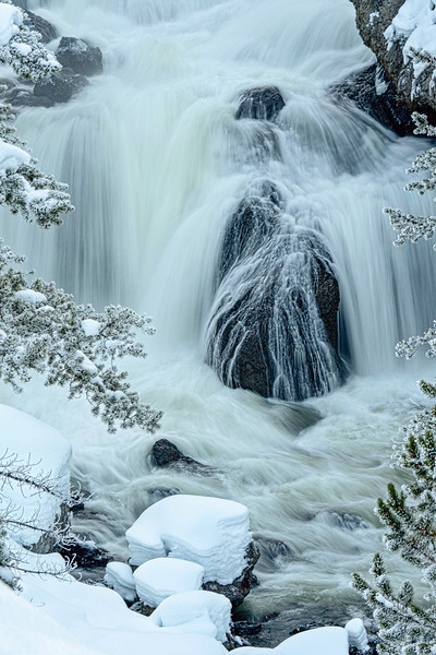 Firehole Falls in winter