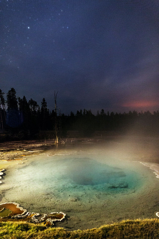 Geyser Pool Under the Stars