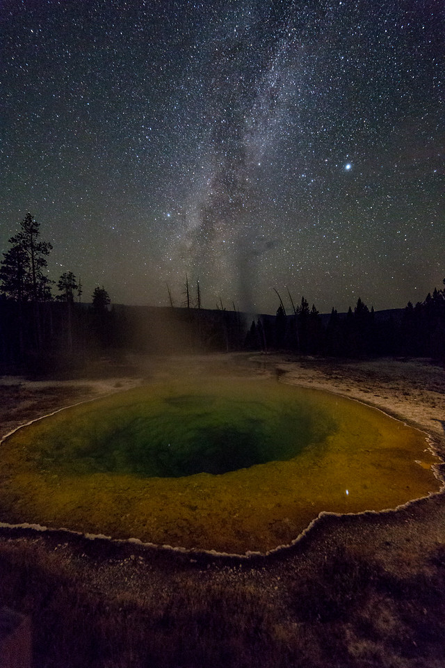 Milky Way and Geyser at Morning Glory