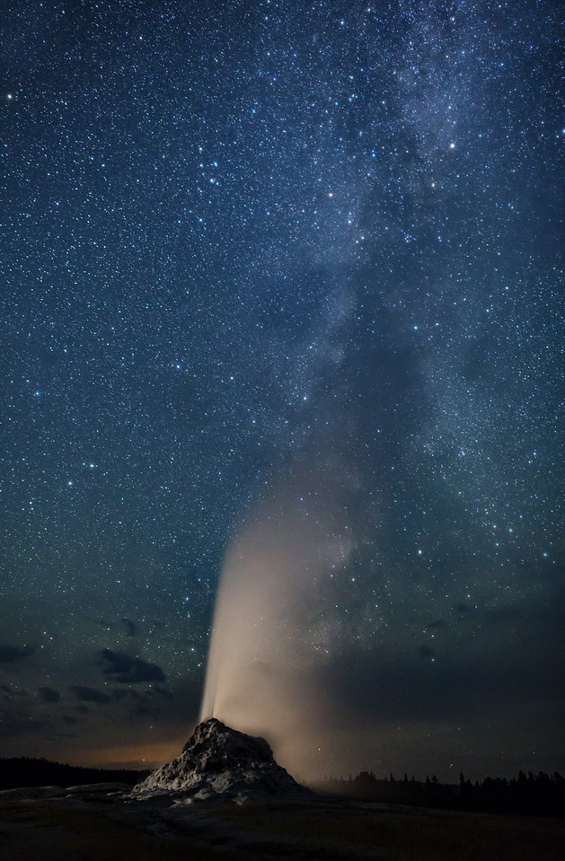 Geyser Under the Milky Way