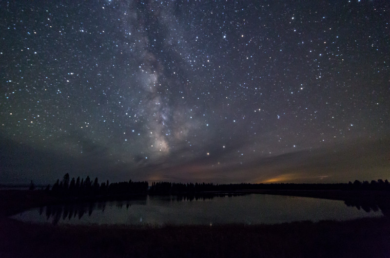 Milky Way Over Indian Pond at Yellowstone
