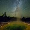 Milky Way Over Morning Glory Geyser Pool