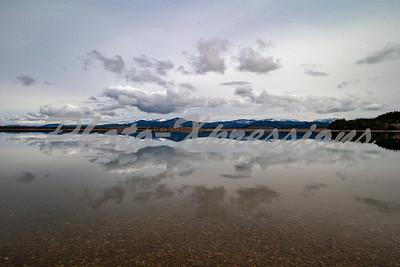 reflection sky mountain lake_2637
