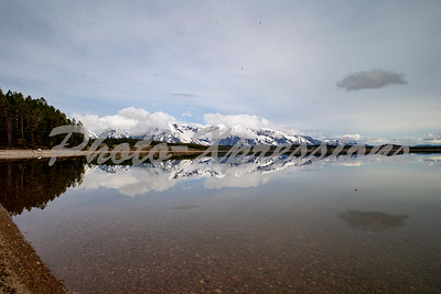 reflection lake sky mountain_2631