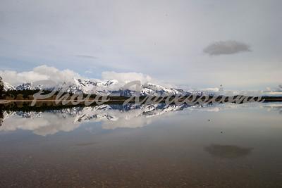 reflection lake sky mountain_2630