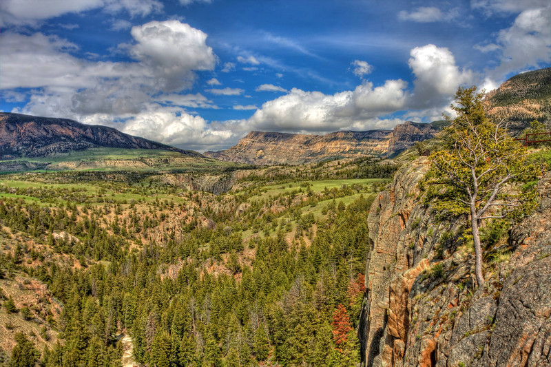 Landscape view on Chief Joseph Highway
