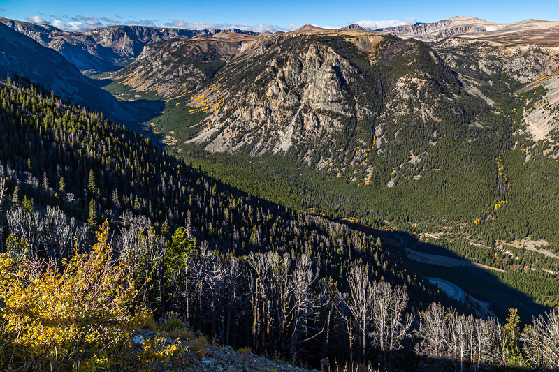 Rock Creek Canyon from the Beartooth Highway Vista Point