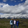 Chris, Alison and Nancy with the grand Tetons in the background