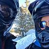 Snowmobile selfie