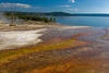 Thermal runoff flows from West Thumb basin into Yellowstone Lake.