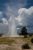 Old Faithful geyser.