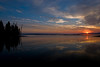 Sunrise over Yellowstone Lake. Fog drifted over the water and a loon call was the only sound heard. Beautiful!