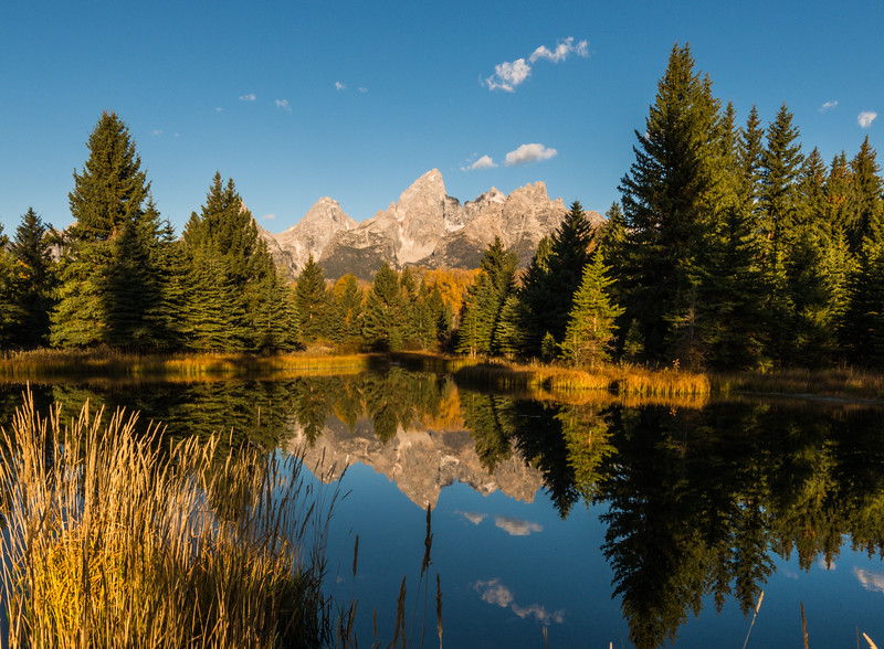 Grand Teton reflection at Schwabacher Landing.