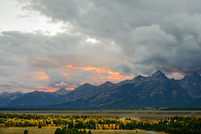 tetons at sunrise